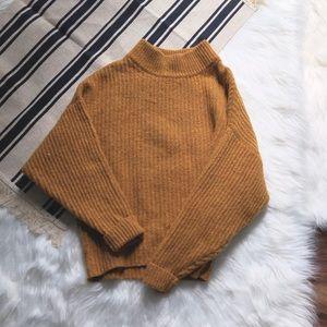 levi's ochre yellow batwing sweater M